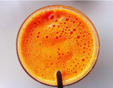 zumo naranja + genjibre + vinagre manzana