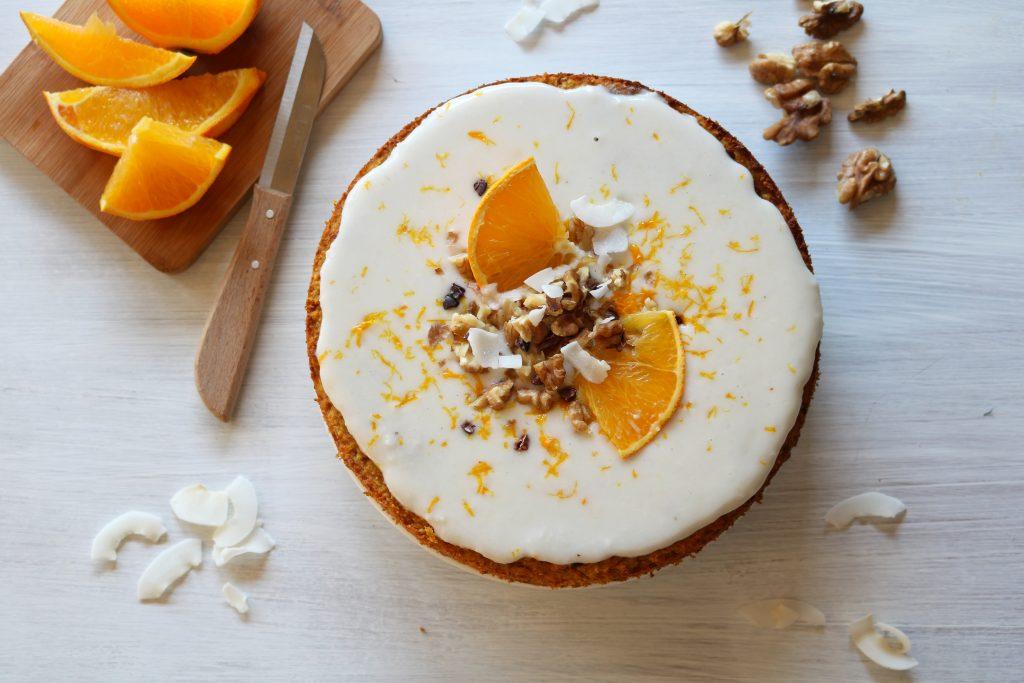 pastel vegano coco naranja